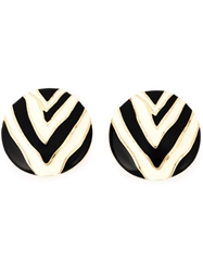 Givenchy Vintage Zebra Enamel Earrings