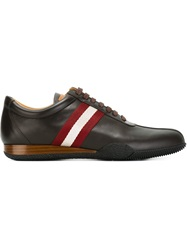 Bally Stripe Detail Sneakers Brown
