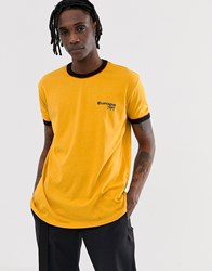 New Look Oversized Ringer Europa T Shirt In Yellow