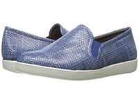 Trotters Americana Navy White Women's Slip On Shoes Blue