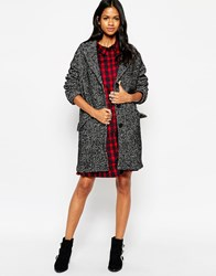 Mbym Boyfriend Coat 887Blackmelange