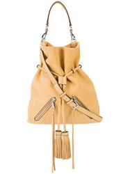 Rebecca Minkoff Tassel Cross Body Bag Nude Neutrals