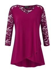 Grace Made In Britain Lace Tunic Pink