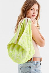 Urban Outfitters Neon Pyramid Tote Bag Yellow