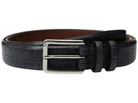 Torino Leather Co. 35Mm Italian Brushed Gator Tail Embossed Calf Grey Men's Belts Gray