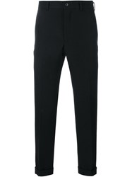 Comme Des Gara Ons Homme Plus Cropped Wool Trousers Black