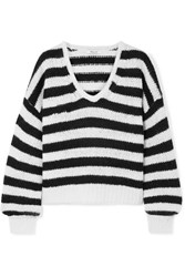 Madewell Striped Knitted Sweater Black