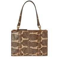 Atp Atelier Lucca Snake Effect Leather Clutch Natural