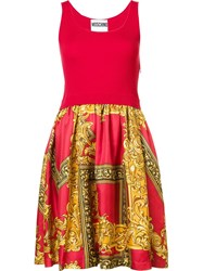 Moschino Baroque Frame Dress Red