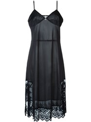 Comme Des Gara Ons Vintage Lace Hem Slip Dress Black