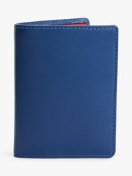 Launer Leather Four Credit Card Coin Wallet Blue Red