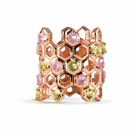 Starrs London Honey Water Cocktail Ring Rose Gold Pink Purple