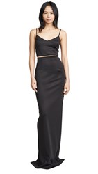 Black Halo Honore 2 Piece Gown Black