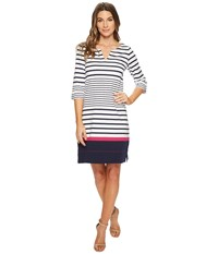 Hatley Lucy Dress Solstice Stripes White