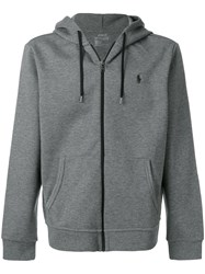 Polo Ralph Lauren Zipped Hooded Sweater Cotton Polyester M Grey