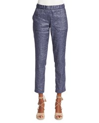 Theory Northsound Tierra Washed Denim Pants Size 8 Deep Denim