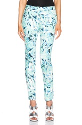Kenzo Torn Flowers Jeans In Green Floral