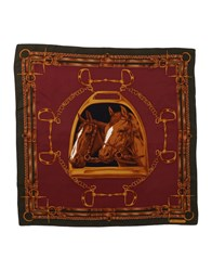 Ralph Lauren Collection Square Scarves Maroon