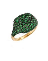 Marco Moore Tsavorite And 14K Yellow Gold Cocktail Ring Green