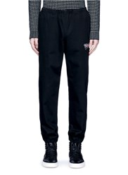 Alexander Wang 'Girls' Embroidered Cotton Twill Jogging Pants Black