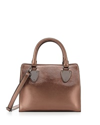 Neiman Marcus Plaque Mini Satchel Bag Bronze