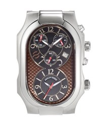 Philip Stein Teslar Large Signature Dual Time Zone Watch Head Multi