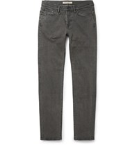 Burberry Slim Fit Stretch Denim Jeans Gray