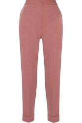 Bottega Veneta Cropped Wool Gabardine Tapered Pants Antique Rose
