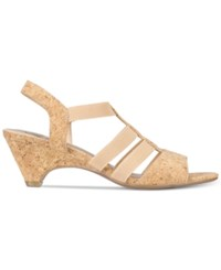 Impo Estella Stretch Strappy Sandals Women's Shoes Natural Cork