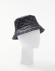 John Lewis Quilted Waxed Bucket Hat Navy Blue