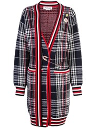 Monse Vintage Plaid Cardi Coat Red
