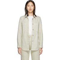 Christophe Lemaire Off White Fitted Overshirt