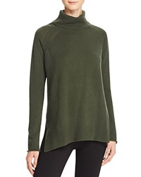 Bloomingdale's C By Raglan Pointelle Turtleneck Cashmere Sweater Loden