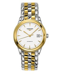 Longines Two Tone Stainless Steel Bracelet Watch