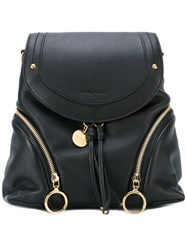 See By Chloe Fold Over Backpack Women Leather One Size Black
