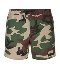 Sandro Camouflage Swim Shorts Green