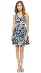 Elle Sasson Flounder Dress Blue Water Print