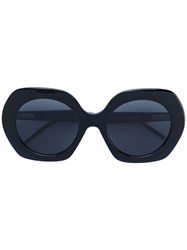 Thom Browne Oversized Rounded Sunglasses Women Acetate 54 Black