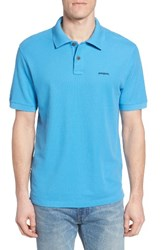 Patagonia Men's Belwe Relaxed Fit Pique Polo Radar Blue