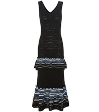 Peter Pilotto Knitted Jacquard Dress Black