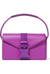Christopher Kane Devine Pebbled Leather Shoulder Bag Violet