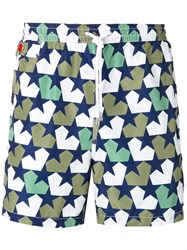 Kiton Stars Print Swim Shorts White