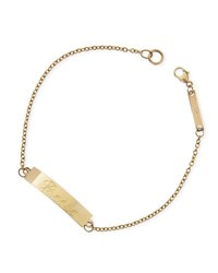 Zoe Chicco Personalized Gold Id Bracelet Rose Gold