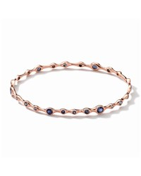 Tiny Bubbles 18K Rose Gold Blue Sapphire Bangle Ippolita Pink
