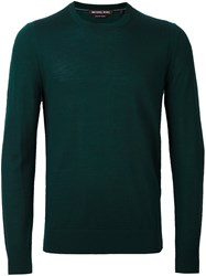 Michael Kors Crew Neck Jumper Green