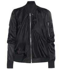 Rick Owens Ripple Flight Jacket Black