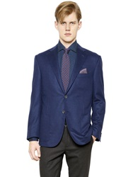 Corneliani Academy Soft Wool Jacket Blue