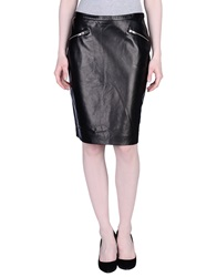 Rika Knee Length Skirts Black