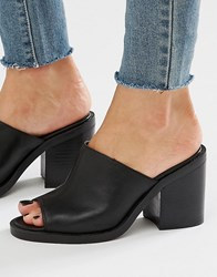 New Look Block Heel Mule Black