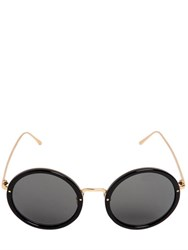 Linda Farrow Round Acetate And Titanium Sunglasses